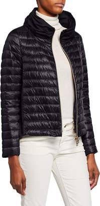 Herno Ladybug Long-Sleeve Puffer Jacket w/ Cape