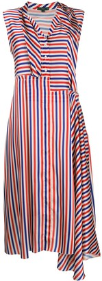 Jejia Asymmetric Stripe Print Dress