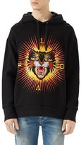 Gucci Cotton Sweatshirt with Angry Cat Appliqu&233, Black
