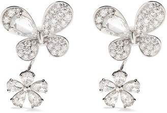David Morris 18kt white gold Pixie diamond earrings