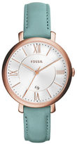 Fossil Analog Jacqueline Rose-Goldtone Leather Strap Watch