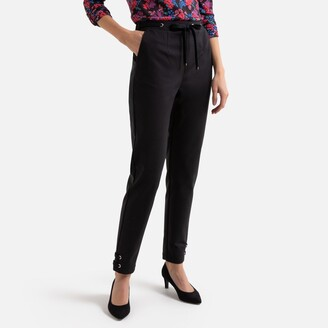 """Anne Weyburn Ankle Grazer Peg Trousers in Cotton Mix, Length 27.5"""""""