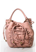 Blumarine NWT Light Pink Leather Gold Tone Helene Convertible Shoulder Handbag
