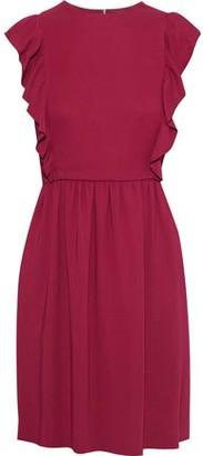 M Missoni Ruffle-trimmed Gathered Crepe Mini Dress