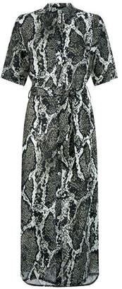 James Lakeland Python Linen Midi Shirt Dress