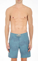 Faherty MEN'S CHEVRON TECH-POPLIN SWIM TRUNKS