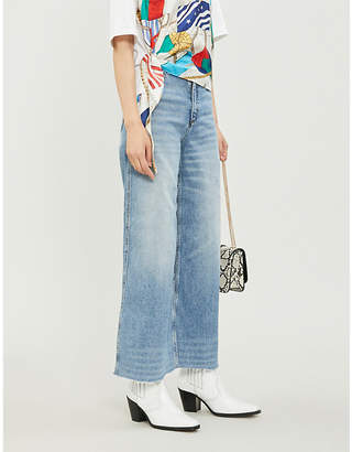 Sandro Maya slim-fit wide-leg jeans