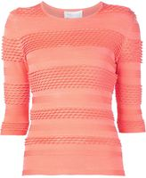 Christian Siriano textured knit top - women - Polyester/Spandex/Elastane - 6
