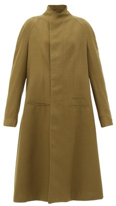 Haider Ackermann Proud Stand-collar Wool-twill Single-breasted Coat - Brown