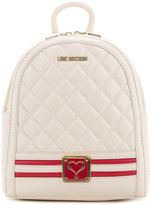 Love Moschino quilted logo backback - women - Polyurethane - One Size