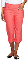 """Denim & Co. How Smooth"""" Regular Jean Capris with Pockets"""
