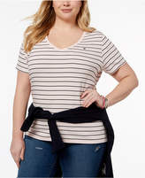 Tommy Hilfiger Plus Size Cotton Striped T-Shirt, Created for Macy's