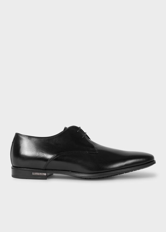 Paul Smith Men's Black Leather 'Coney' Derby Shoes
