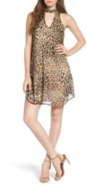 Speechless Women's Leopard Print Cutout Dress