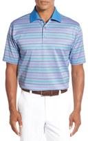 Bobby Jones Men's 'Rose Stripe Jacquard' Mercerized Cotton Polo