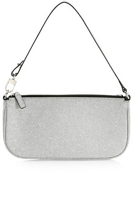 BY FAR Rachel Glitter Leather Shoulder Bag