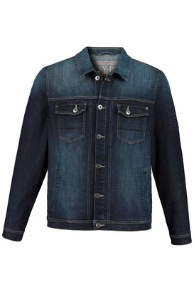 JP 1880 Men's Big & Tall Denim Jacket FLEXNAMIC Dark Blue XXXX-Large 723434 93-4XL