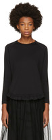 Simone Rocha Black Long Sleeve Smock Ruffle T-shirt