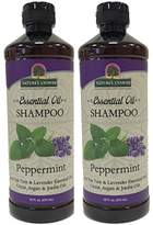 Nature's Answer Essential Oil Shampoo, Peppermint, 2-Count