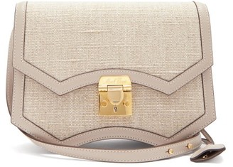 Mark Cross Madeline Linen And Leather Cross-body Bag - Grey