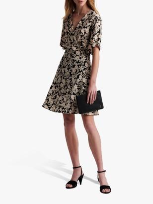 Gerard Darel Sabrina Floral Print Mini Dress, Black