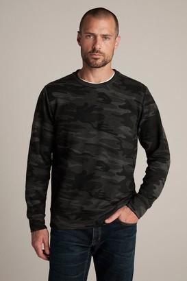Velvet by Graham & Spencer Neo Camo Print Fleece Sweatshirt