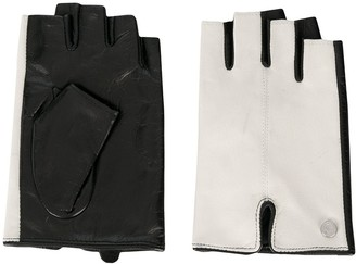 Karl Lagerfeld Paris K/Logo fingerless gloves