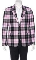 Alexander McQueen Plaid Wool Blazer