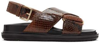 Marni Brown Snake Fussbett Sandals
