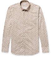 Incotex Kurt Slim-fit Floral-print Cotton-poplin Shirt - Off-white