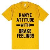 Skreened Kanye And Drake | M Light Heathered Grey T-Shirt