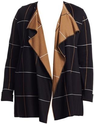 Marina Rinaldi Marina Rinaldi, Plus Size Minoico Wool-Blend Jacquard Cardigan