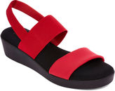 ST. JOHN'S BAY St. John's Bay Swan Two Strap Wedge Sandals