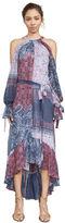 BCBGMAXAZRIA Saige Cold-Shoulder Halter Dress