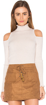 Rebecca Taylor Open Shoulder Ribbed Pullover in Blush. - size L (also in S)
