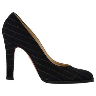 Christian Louboutin \N Black Leather Heels