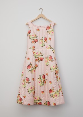 Comme des Garcons Flower Pattern Quilted Dress