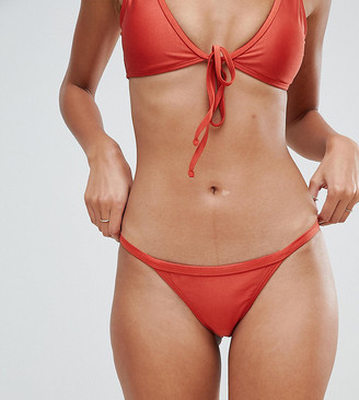 South Beach Exclusive high leg high shine bikini bottom-Orange