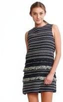 Cynthia Rowley Tweed Fringe Shift Dress