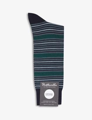 Pantherella Saltwell Stripe wool-blend socks