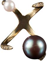 Bijules Claw Akoya Cultured Pearl Ring