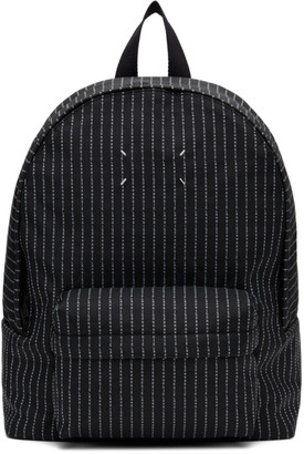 Maison Margiela Black Logo Stripe Classic Backpack