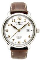 Zeppelin LZ127 Graf Automatic Men's Analog Date Watch Brown Strap 7656-1