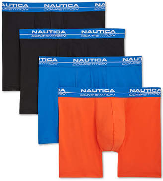 Nautica Men 4-Pk. Performance Boxer Briefs