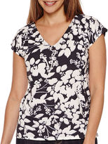 Liz Claiborne Short-Sleeve V-Neck Tee - Tall