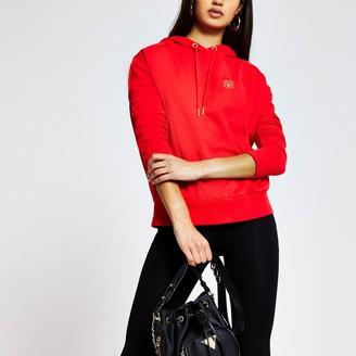 River Island Womens Red long sleeve exposed seam hoodie