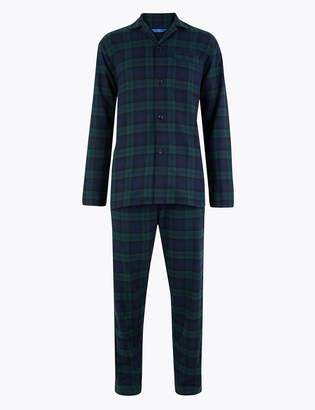 M&S CollectionMarks and Spencer Big & Tall Brushed Cotton Pyjama Set
