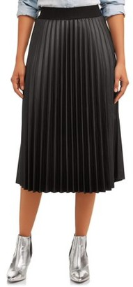 Time and Tru Pleated Skirt Women's