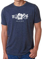 LOS ANGELES POP ART Los Angeles Pop Art Men's Premium Blend Word Art T-shirt - Aloha