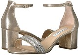 Nina Elenora (Taupe Reflective Suedette) Women's 1-2 inch heel Shoes